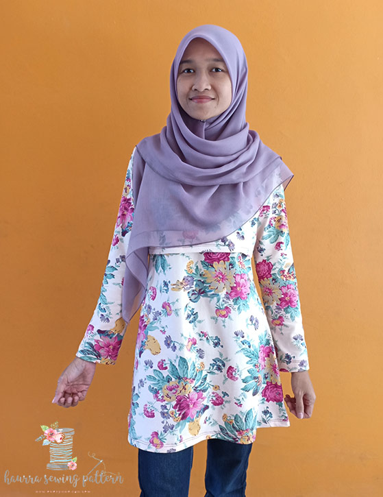 violet top by haurra sewing studio