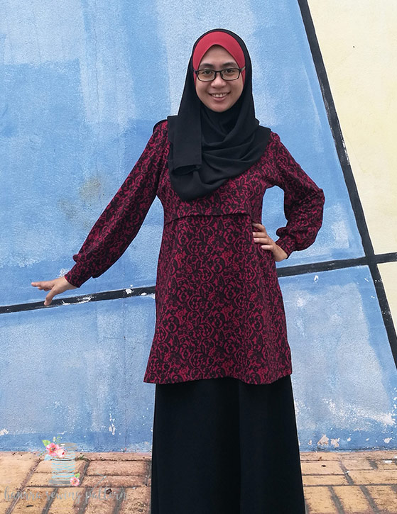 violet top with sleeve by haurra sewing